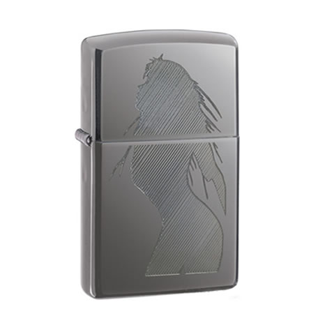 Zippo Lighter Black Ice Seductive Silhouette