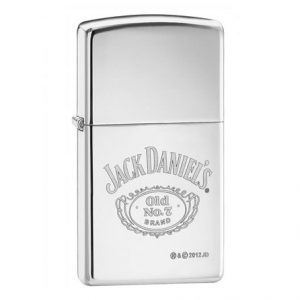 Zippo Lighter High Polish Chrome Jack Daniels